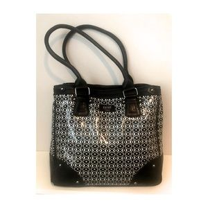Gigi Hill black & white tote